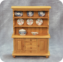 1 : 12 Wood Miniature Dollhouse Kitchen Furniture Classic Doll House Cupboard Cabinet with Draws Cute Christmas Gift