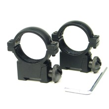 "1 pair QD Heavy Duty 1"" 25.4mm Low Profile Scope Ring for 11mm Mount Weaver Picatinny Rail Rifle and Airsoft"