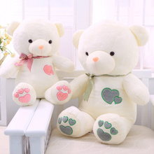 Cute Love Teddy Bear Plush Soft Toy Wedding Plush Toys Speelgoed Creative Kawaii Big Teddy Bear With A Love Heart 70C0607
