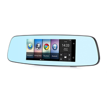 "Smart 7"" 4G Car Rear View Mirror DVR Camera Android 5.1 GPS Bluetooth Wifi Camcorder 2 Lens Automobile Video Recorder Dash Cam(China)"