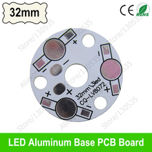 3 leds 32mm aluminum base plate for 1W 3W high power bead, 3W 9W LED PCB board, Heat sink board for bulb light, floodlight etc