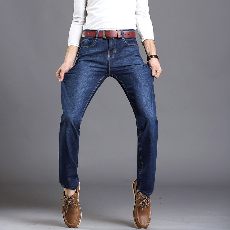 2017 men fashion straight men Jeans classic denim  brand jeans  fall Winter Stretch  jeans cotton Slim JeansОдежда и ак�е��уары<br><br><br>Aliexpress