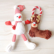 2016 New Pets Toy Christmas Style Santa Snowman Plush Stuffed Animal Doll For Home Decoration Christmas Tree Decor Products