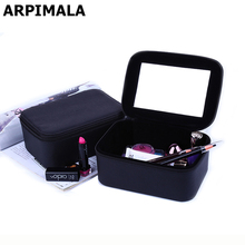 2017 Luxury Cosmetic Bag Professional Make Up Bags Travel Makeup Case Beauty Necessaries Toiletry Bag Women Travel Organizer Box(China)