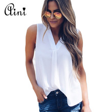 Buy Plus Size Women Tops Blouse 2018 Summer Tops Female Solid Sleeveless V-neck Casual Loose Chiffon Blouses Sexy Ladies Shirts for $3.88 in AliExpress store