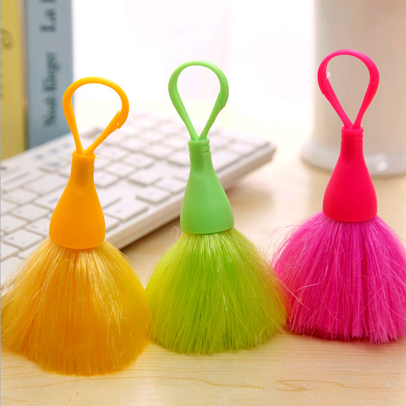 Candy Color Keyboard Mouse Small Cleaning Brush Mini Electrostatic Cleaner Anti-Static Screen Whisk Broom Car Dashboard Sweeper(China)