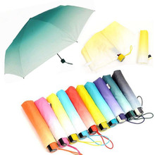 Creative Will Change Students Umbrellas Fashion Candy Color Umbrella Sunny Wholesale Selling Three Folding