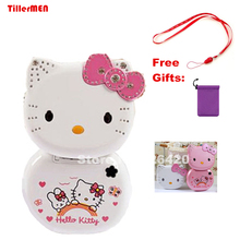 KUH K688 mp3 mp4 mini Flip lovely unlocked small women kids girls diamond hellokitty cute cell mobile phone cellphone(China)