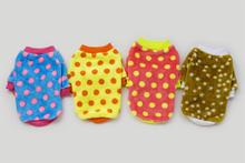 Factory Direct Pet Puppy Dog Clothes Colored Dot Legs Sweatshirt Pet Clothing T-Shirt Shirt Dog Clothes (XS-XL) Free Shipping(China)