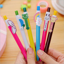 6 Pcs New Style Cartoon Colorful Candy Colors Ball-point Pen Student Award Gift Stationery Office Supplies