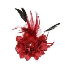 AOJUN New Flower Feather Brooch Hair Accessories Wedding Corsage Large Brooches for Women Broches Jewelry Fashion Rooch 2XZ02(China)