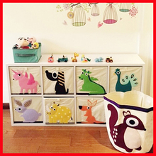 Cute Animal storage bag basket large toy canvas bags for kids Cabinet storage toy storage bag without cover