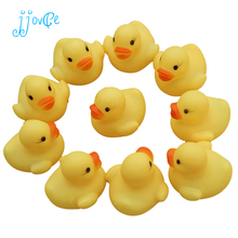 baby bath toys 10Pcs/Bag Baby Kid Cute Bath Rubber Ducks Children Squeaky Ducky Water Play Toy
