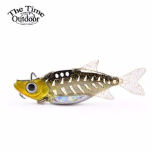 1PCS Multi-color VIB Metal Lure With Soft Tail Swim Bait Artificial Bait 11g/14g With Treble Hook Wobblers Rubber Bait(China)