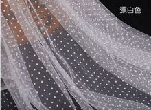 1 meter Jewelry props photo lace soft white mesh fabric cloth white dot organza background screen gauze veil wedding