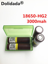 Dolidada 100%original HG2 18650 3000mAh 18650 battery 3.6V discharge20A dedicated electronic cigarette Power battery