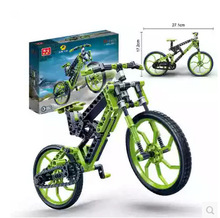 Children DIY Toys Assembled puzzle blocks intelligent plastic toy mountain bike car model bicycle blocks(China)