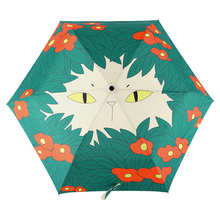 Creative Illustration Flowers Cat Rain And Sun Umbrella 3 Folding 6 Rib Thickening Sunshade Anti UV Women Lady Art Umbrellas