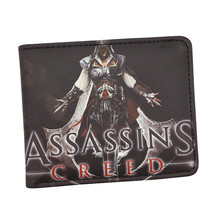 Free Shipping Cool Game Wallet Assassin's Creed Movie Wallets For Young Boy Girl Student Leather Short Money Bag Wallet Purses