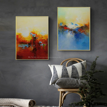 MUYA Large wall pictures for living room modern wall paintings oil painting on canvas handmade acrylic paints cheap modern paint(China)