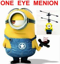 2017 Smiling One Eye Minion Induction Flying Toy Despicable Me Minion Remote Control RC Helicopter Quadcopter Drone Kid Toys