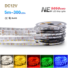 NEW 5M/Roll Waterproof RGB Led Strip 5050 SMD Led Tape DC 12V 60Leds/M Fita Flexible Ribbon String IP20 IP65 IP67 300Leds