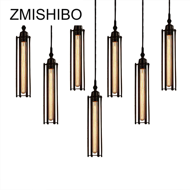 ZMISHIBO Vintage Pendant Lamp Suspension Luminary Vertical Pendant Lights Horizontal Tube Decoration Fixtures For Living Room<br>