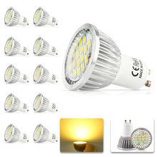 10x 100% Quality Assurance GU10 700lm 11W SMD 2835 16LED Light Bulb Warm White Cold White AC 220V LED Spot Aluminum lamp cup(China)