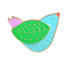 Brooches Cartoon Cute Bird Leaves Wings Brooch Hobby Peace Pigeons Pin Decoration Backpack Hat Hrooch broach pin
