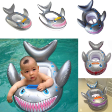 New Shark Shaped Kids Inflatable Baby Toddler Swimming Swim Seat Float Pool Fish Ring High Quality