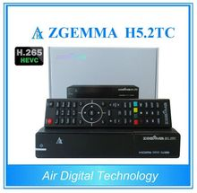 2pcs/lot Newest H.265 HEVC Combo Receiver ZGEMMA H5.2TC with DVB-S2 + 2* DVB-T2/C Triple Tuners Enigma 2 Linux OS STB