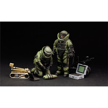 OHS Meng HS003 1/35 US Explosive Ordnance Disposal Specialists & Robot Miniatures Assembly figures Model Building Kits(China)