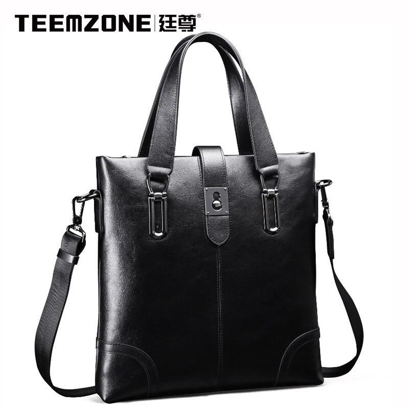 Teemzone Handbag Men Shoulder Bags Genuine Leather Brand Briefcases Business Tote Bag Mens Messenger Crossbody Bag Free Ship<br><br>Aliexpress