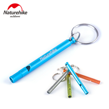 Naturehike Outdoor Aluminum Survival Loud Whistle Train 4 Colors Length 7cm Cheerleading Camping Safety Escape Accessory Tool(China)