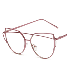 Retro glasses lenses 2017 ladies fashion brand designer flat mirror cat shopping / Beach five colors