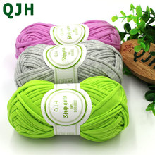 100g/pcs New Fancy Yarns For Hand Knitting Thick Thread Crochet Candy-colored Cloth Yarn Ribbon Hand-knit Wool Hat Yarn Craft