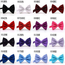 Colorful! 16 Colors Solid Fashion Bow Ties For Men Grooms 1pc Bowties Butterly Wedding Marriage Black Butterflies Cravat Brand(China)