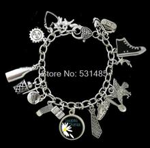 6pcs Looking For Alaska Themed phone dream shooting star eagle Charm Bracelet silver tone