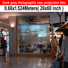 Free Shipping Dark Grey Rear Projector Film For Trade Show Digital Signage Glasses Window Station Opera house Airports,Bank, Gym(China)