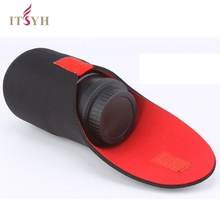 ITSYH CAMERA Bags SLR camera lens barrel thick neoprene bag red and black professional lens barrels Case size S M L XL TW-371(China)