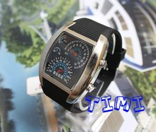 TVG hotsale  Nice Xmas Gift Blue LED Light Dot Matrix Mens Watch DIVE