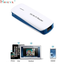 Hot-sale High Quality 5 in 1 Mini Portable 150Mbps USB2.0 3G WIFI Mobile Wireless Router Hotspot With Cables 1 PC