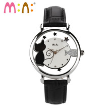 M:N: Korea Mini watch ladies Women's watches unique Hollow design Children wristwatch girl clock relogio feminino christmas gift(China)
