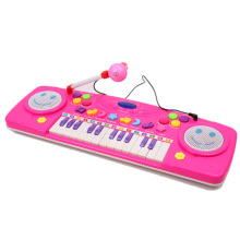 25Keys Cute Toy Piano Kids Early Learning Training Music Toy Electronic Keyboard Functional Recording Piano with Microphone