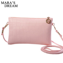 Mara's Dream 2017 Mini Leather Handbags Ladies Party Purse Solid Wedding Clutches Women Small Crossbody Shoulder Messenger Bags