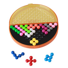 Classic puzzle pyramid plate IQ pearl logical mind game Brain Teaser educational toys for children pyramid beads puzzle MU838744(China)