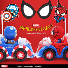 Disney Marvel Spiderman New 2017 Kid Toy Xmas Gift Electric Remote Control RC Cars Toys for Boy Chidlren with Light Music(China)