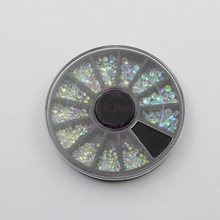 1 Wheel Mix 6 Size SS4,5,6,8,10,12 Point Back Transparent Clear AB Glass Rhinestones 3D Salon Acrylic Nail Art DIY Design Deco(China)