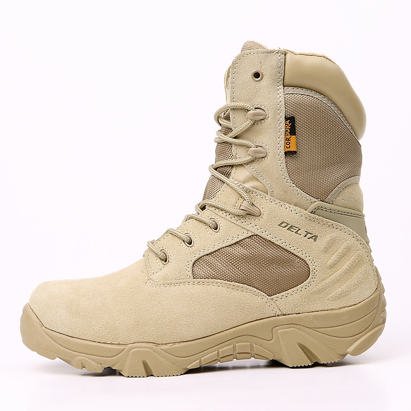 Men/'s Army Tactical Soft Leather Combat Military Ankle Boots Work Desert Shoes