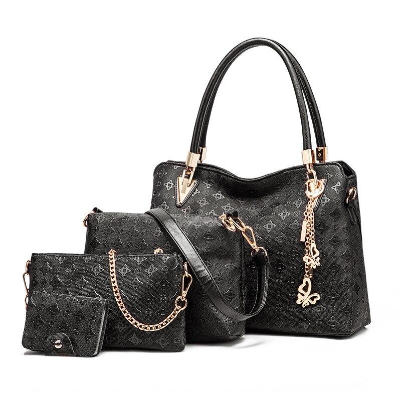 Sac Composite Bags Set Luxury Handbags Woman Bag Designer Clutch 4 Pcs PU Leather 2017 Women Bag With Fashion Composite Bag Saco<br><br>Aliexpress